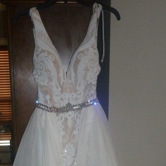 Blush Dresses Formal Dress Ivory Lace Cape Size 4 Poshmark